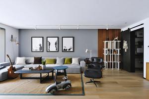 70平米现代简约风格小户型室内装修效果图赏析