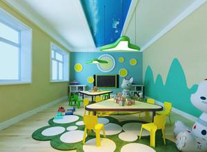 46平米现代风格可爱幼儿园教室装修效果图