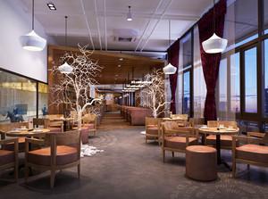 166平米现代风格咖啡厅装修效果图赏析