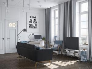 68平米北欧风格小户型室内装修效果图鉴赏