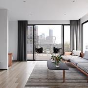 现代风格三居室客厅窗帘设计效果图赏析