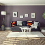 现代简约风格两居室客厅沙发装修效果图