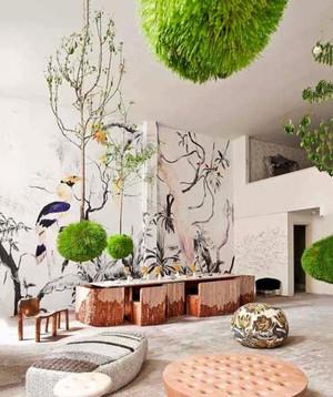 现代简约风格室内手绘墙装修效果图赏析