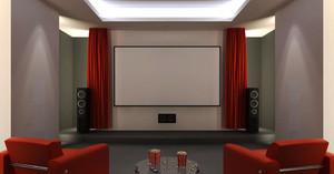 现代简约风格三居室室内客厅影视墙装修效果图