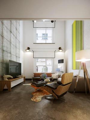 70平米现代风格loft装修效果图赏析