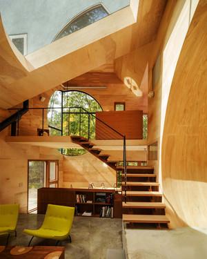 东南亚风格复式楼梯装修设计效果图鉴赏
