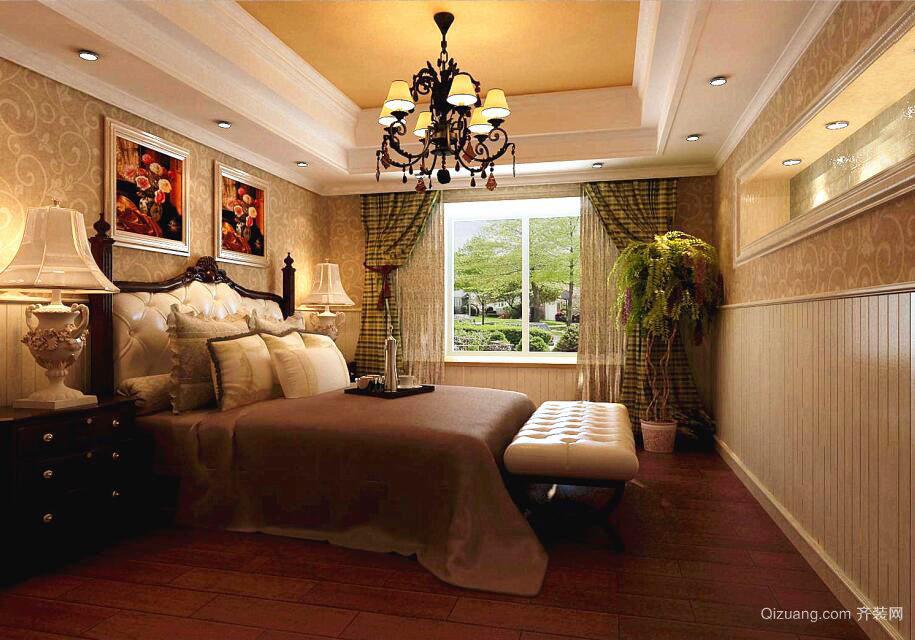 300平米古典美式风格别墅室内装修效果图赏析