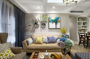 150平米现代简约美式风格大户型室内装修效果图赏析