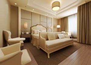 现代简约风格大户型卧室窗帘设计效果图鉴赏