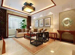 90平米中式风格两室两厅室内装修效果图赏析