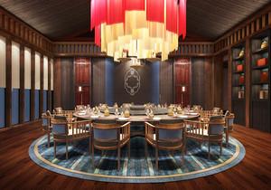 110平米东南亚风格餐厅包厢装修效果图