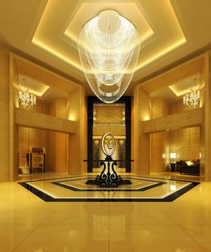 富丽堂皇欧式风格酒店大堂吊顶设计装修效果图