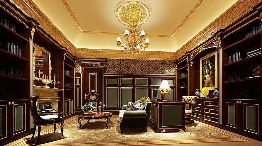 精致典雅巴洛克风格别墅室内装修效果图赏析