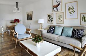 60平米北欧风格一居室装修效果图赏析