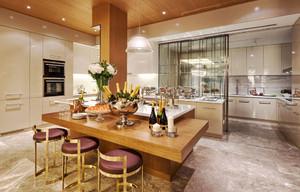 现代风格大户型厨房餐厅隔断设计装修效果图