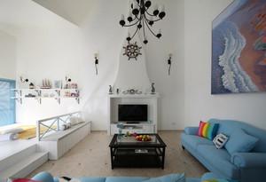 160平米简约地中海风格复式楼室内装修效果图