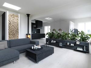 后现代风格冷色调两室两厅室内装修效果图