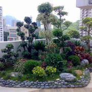 现代简约风格大户型屋顶花园设计效果图