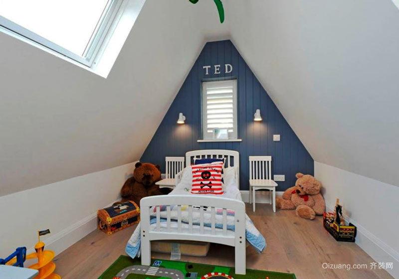 简欧风格复式楼室内阁楼儿童房装修效果图赏析