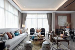 现代中式风格三居室客厅装修效果图赏析