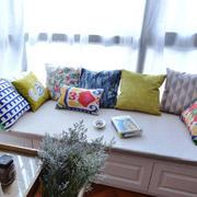 宜家风格温馨舒适飘窗设计装修效果图