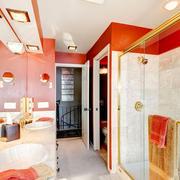 欧式风格明亮色彩卫生间装修效果图赏析