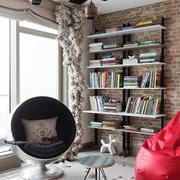 北欧风格小户型客厅创意书架设计效果图