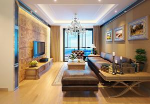 80平米现代欧式风格室内装修效果图赏析