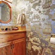美式风格大户型室内卫生间瓷砖设计装修效果图