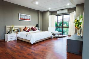 现代简约风格两居室卧室吊顶装修效果图