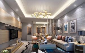 现代风格大户型客厅装饰画装修效果图赏析