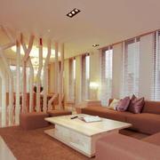 现代简约风格创意客厅隔断设计装修效果图