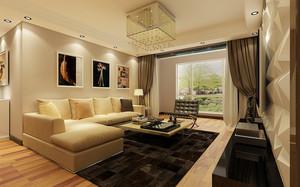 120平米现代风格客厅吸顶灯装修效果图鉴赏