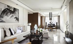 现代中式风格两室两厅一卫室内装修效果图