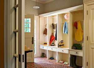 北欧风格三居室精致玄关鞋柜装修效果图