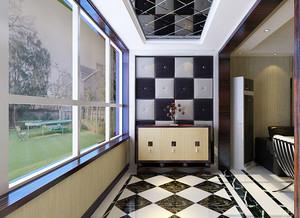 139平米现代风格阳台玄关设计效果图赏析