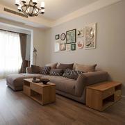 现代欧式风格三居室客厅装饰画设计效果图