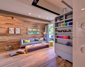 现代风格精致原木风小别墅装修效果图赏析