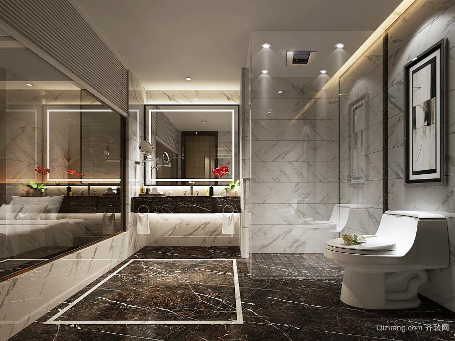 现代简约风格二居室卫生间装修效果图鉴赏