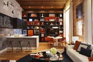 45平米后现代风格单身公寓装修效果图鉴赏
