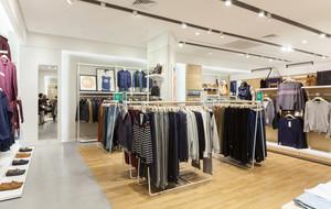 156平米现代风格男士服装店装修效果图