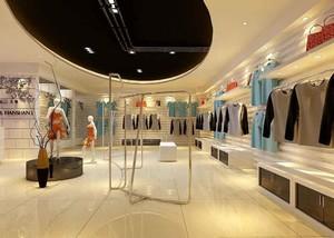 60平米现代风格服装店装修设计效果图