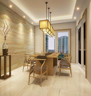 现代中式风格三居室餐厅吊灯设计效果图