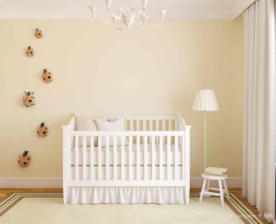 简欧风格自然清新婴儿房设计装修效果图