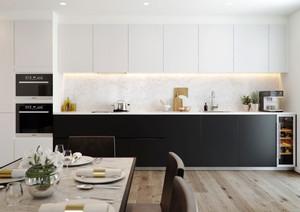 70平米现代简约风格小户型室内装修效果图