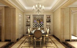 奢华欧式风格二居室餐厅酒柜设计效果图