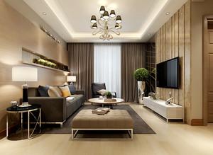 110平米现代风格客厅电视背景墙装修效果图鉴赏