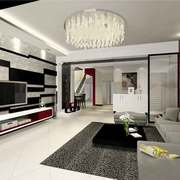 现代简约风格小户型客厅吸顶灯设计效果图