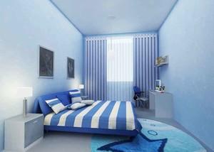 现代简约风格淡蓝色儿童房设计装修效果图