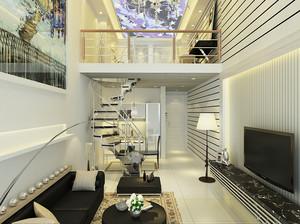 现代简约风格复式楼旋转楼梯装修效果图赏析